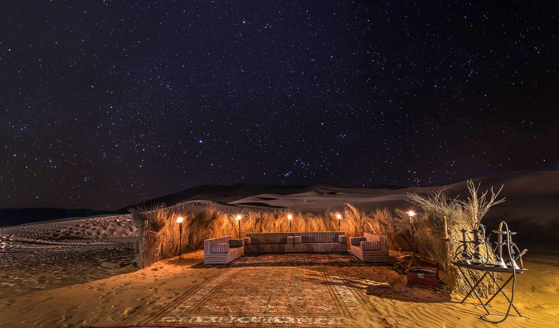 nuit desert dubai