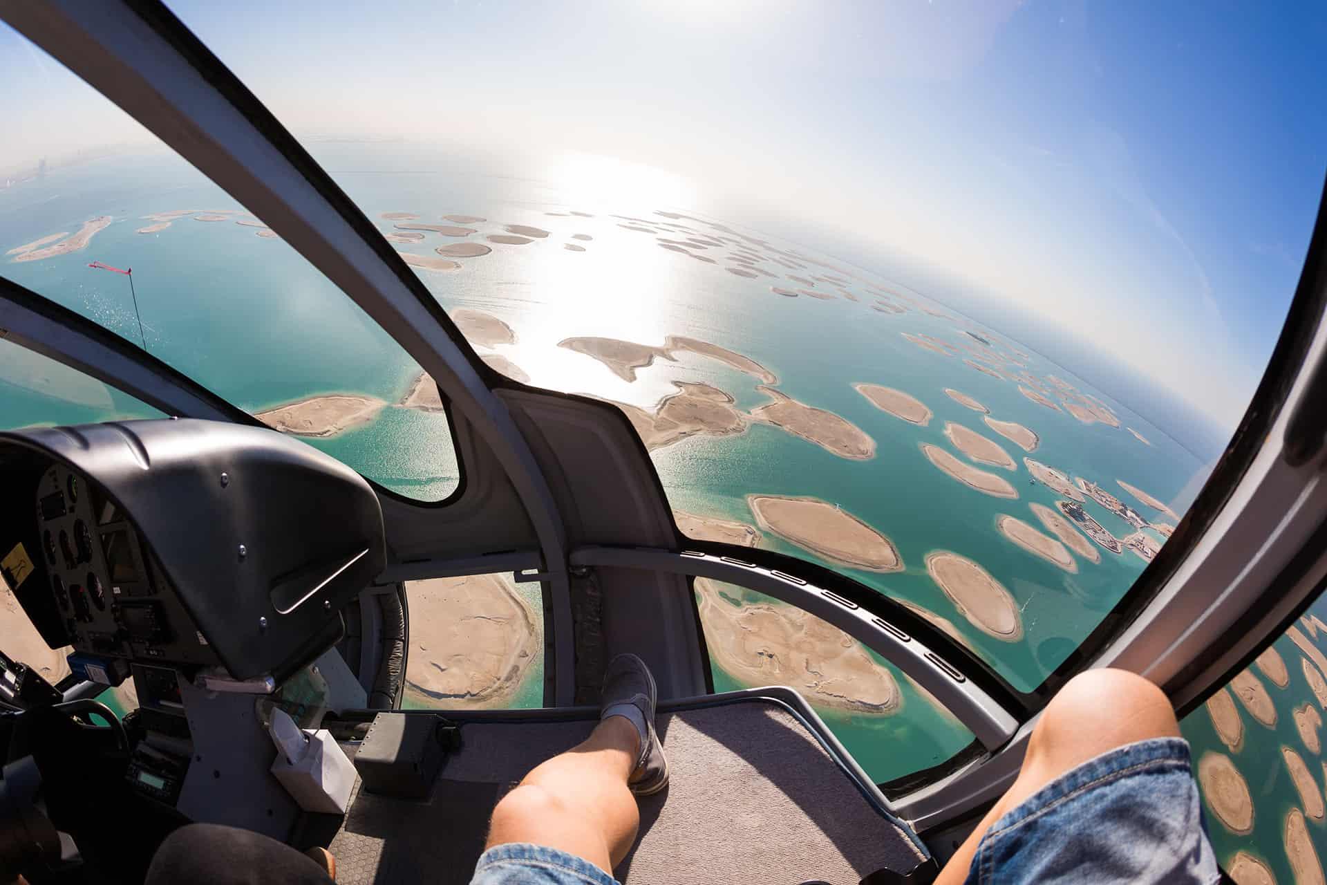 helicoptere dubai the world