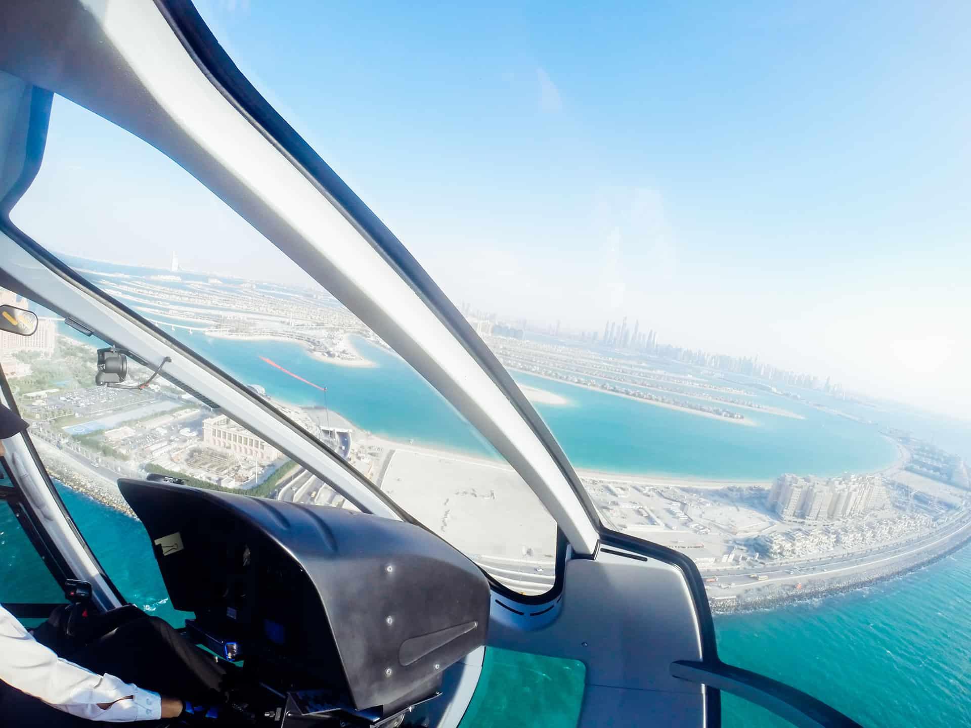 survol dubai helicoptere